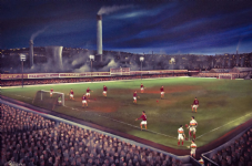 Remembering The Bradford Derby 1950s Valley Parade 20'' x 30'' Box Canvas Print